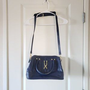 London Fog Dora Dome Shoulder Bag (navy)